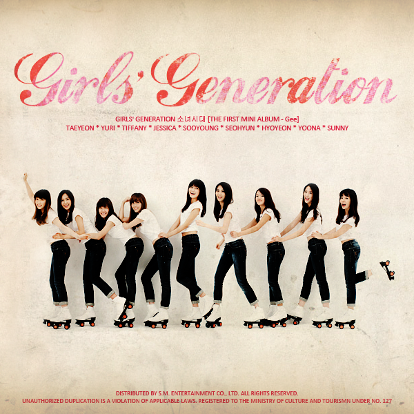 Cover World Mania Girls Generation Gee Fan Made Mini Album Cover