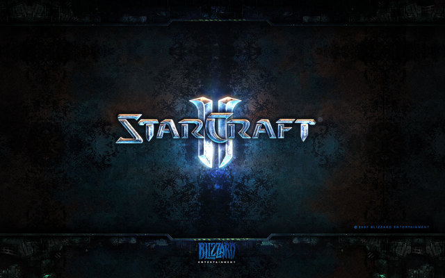 starcraft 2 wallpapers. Starcraft 2 Logo Wallpaper by