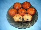 Narancsos csokis muffin, tejtermék mentes sütemény, narancs ízű cukormázzal.