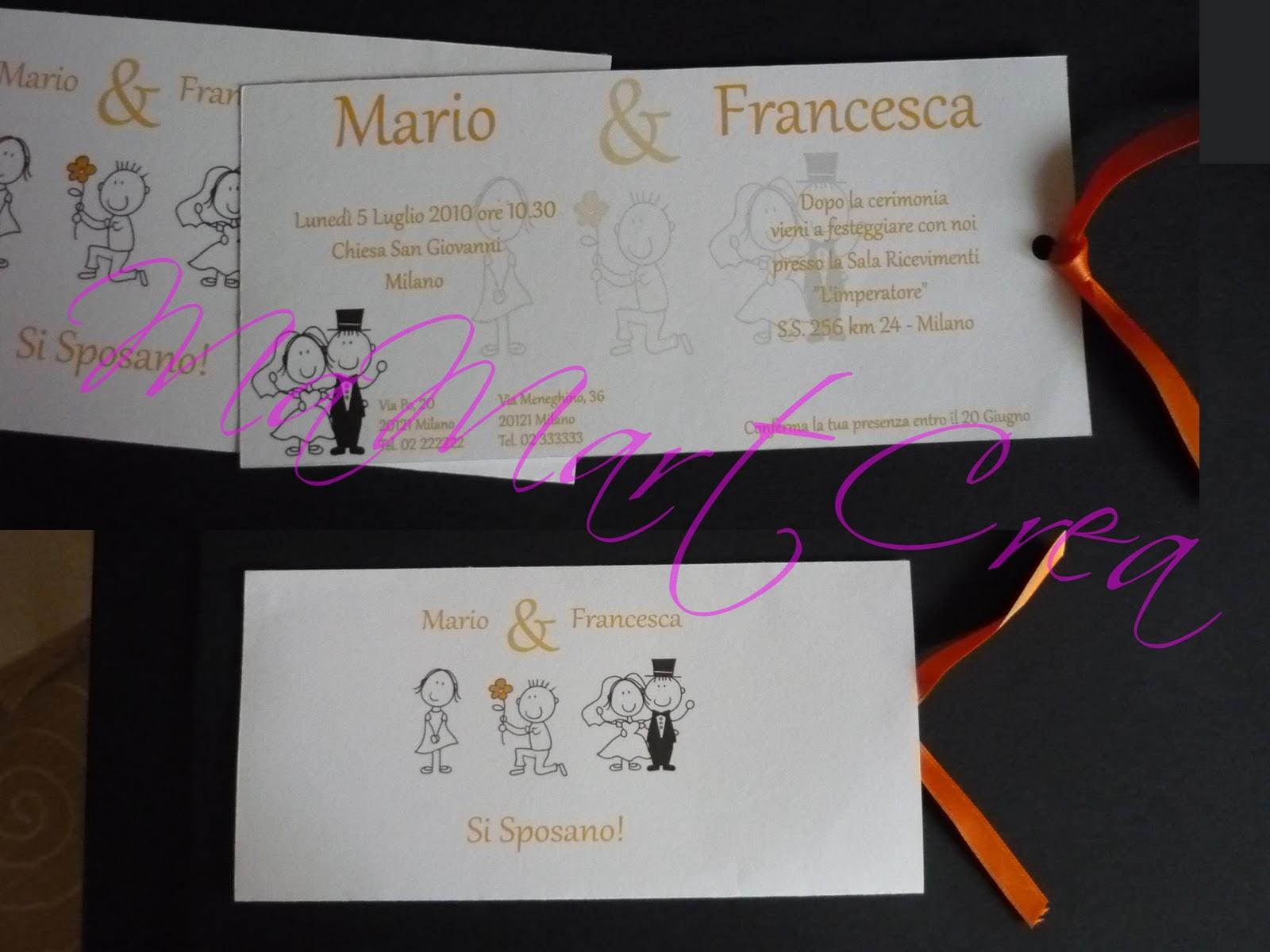 Popolare MaMartCrea: Partecipazione matrimonio: Si Sposano! DU11