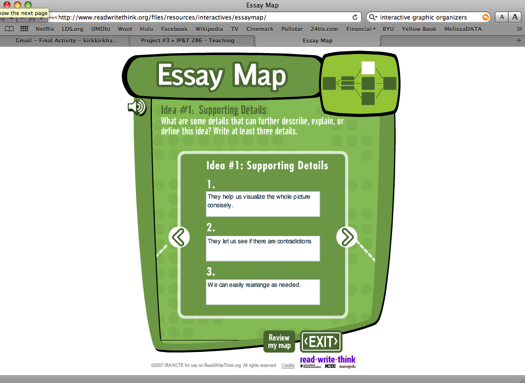 readwritethink.org essay map The compare & contrast map is an interactive graphic organizer that enables students to organize and outline their ideas for different kinds of comparison essays.