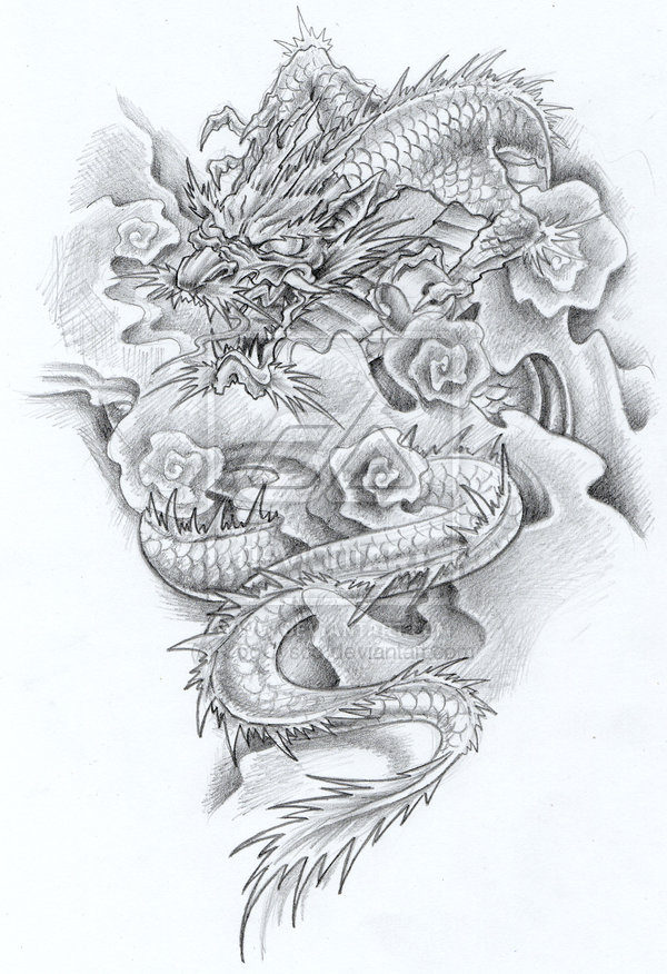 japanese dragon tattoo women. Japanese Dragon Tattoo Designs