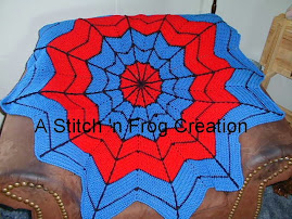 Superhero Dreamcatcher Afghan, especially for Spiderman Fans