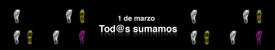 1 de marzo, TOD@S SUMAMOS por la igualdad de derechos