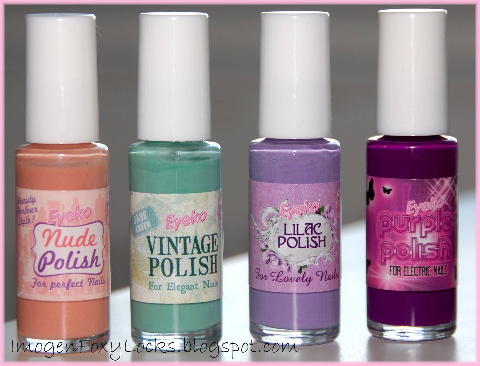 Imogen Foxy Locks: Pretty Nails On A Budget: Eyeko Nail Polish