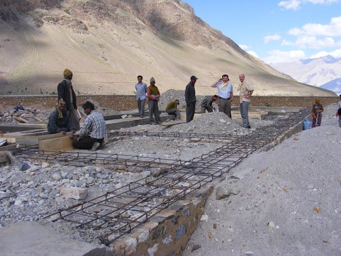 erste Baustellenbesichtigung