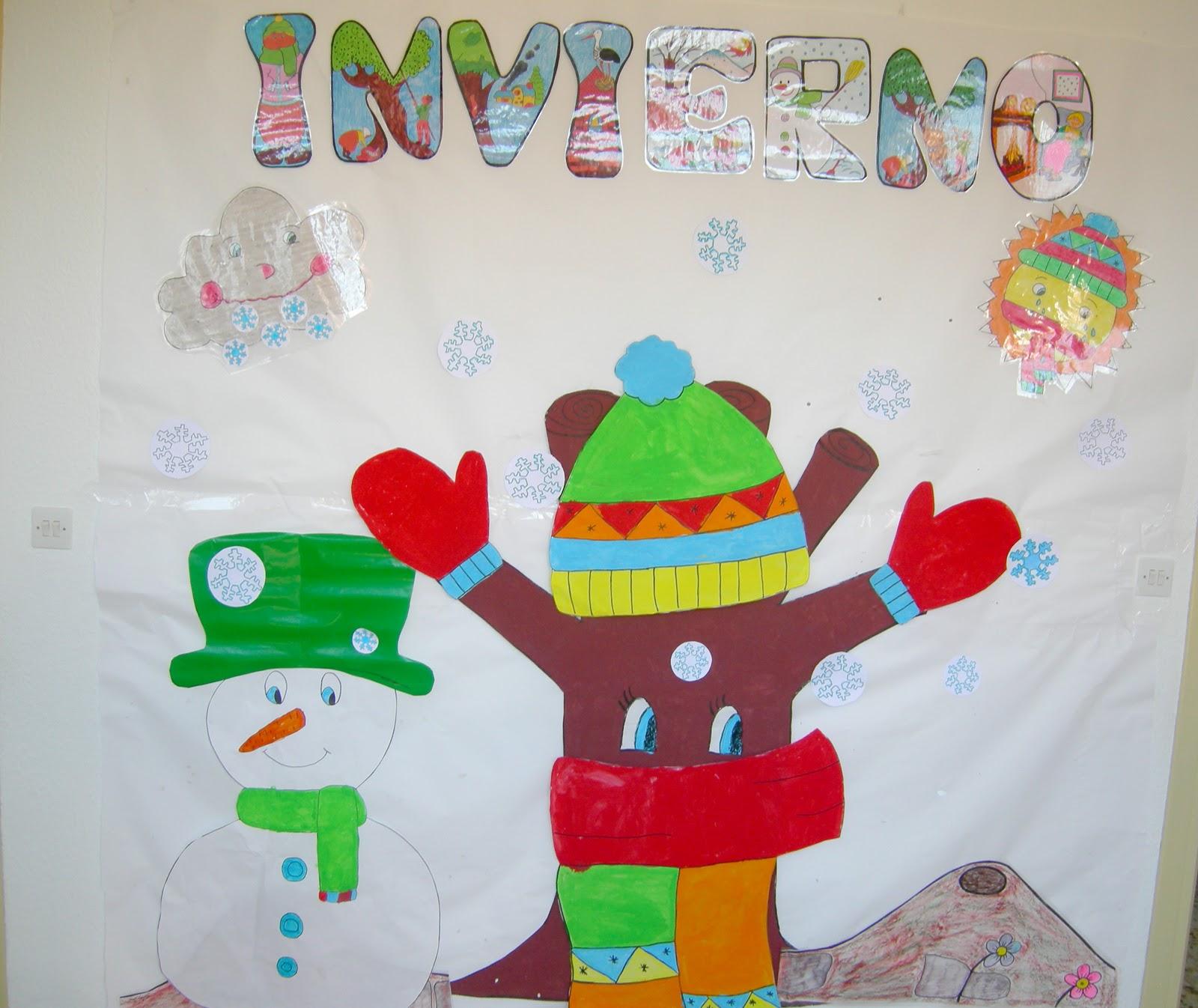 Los peques del sjc mural del invierno - Mural navidad infantil ...