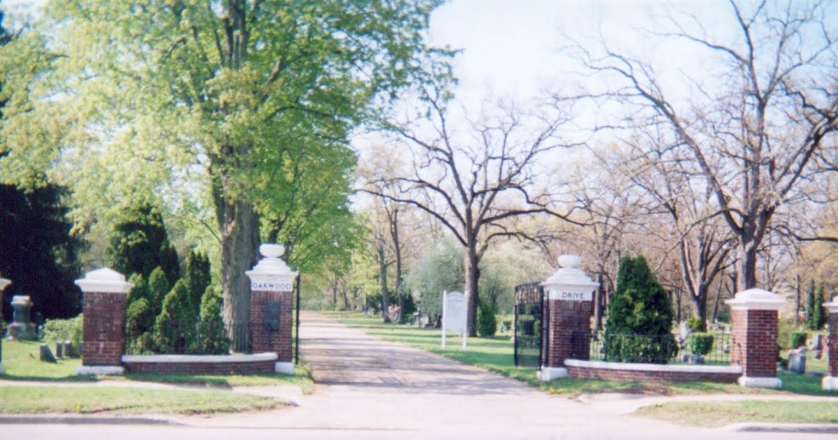 The oakwood cemetery of allegan michigan main gate photo The oakwood