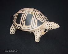 Chocalho em forma de Tartaruga - Waurá