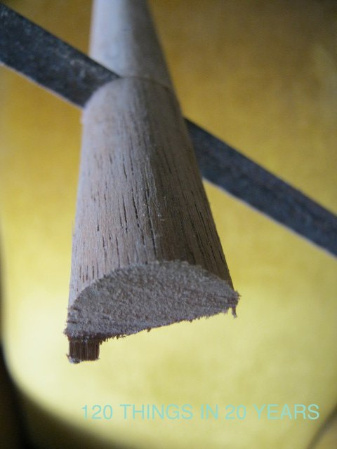 how to cut a wooden dowel in half