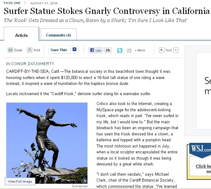 Encinitas Undercover: Cardiff Kook makes front page of ...