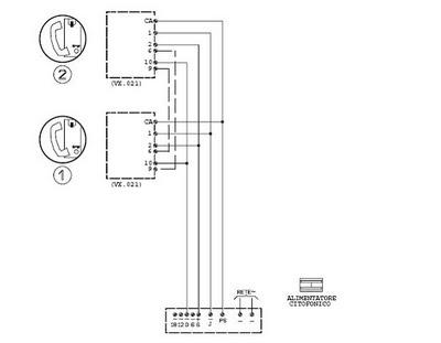 El matroji tic for Citofono urmet 1130 schema