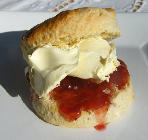 Tinned Tomatoes: Scones with Clottted Cream & Jam