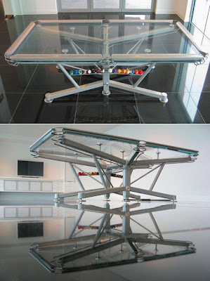 f m phenomenal transparent pool table