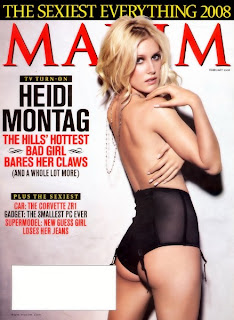 Heidi Montag Shows Her Best Assets In Maxim Magazine February 2008 issue