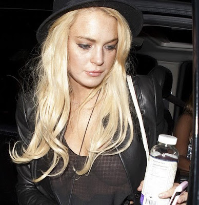 Lindsay Lohan – see-thru candids in Los Angeles