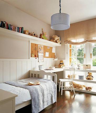 Excelentes ideas para el cuarto de los ni os casa haus for Repisas espacios pequenos