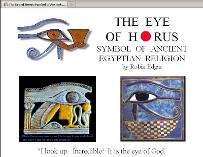 Eclipsology The Eye Of Horus Religious Symbol Of Ancient Egypt Was