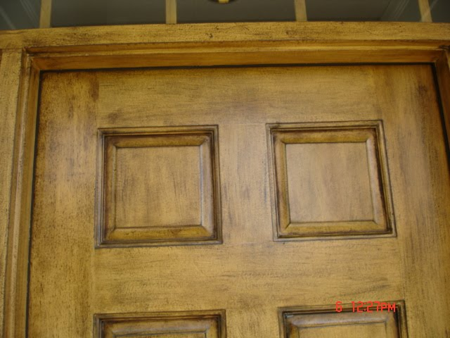 antique finish on exterior door refinishing wonders