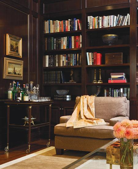 Den Library Office: My Notting Hill: Come In From The Cold: Dark, Cozy & Glam