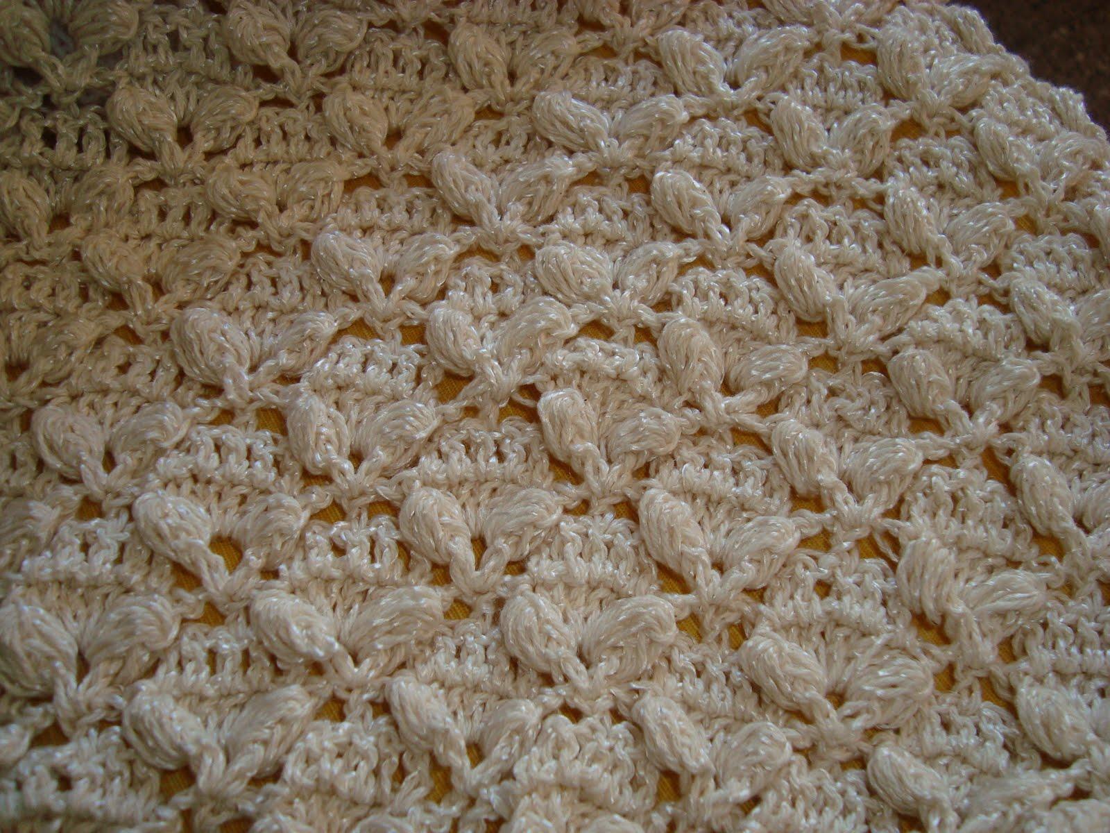 de puntos el tejido al crochet es de la mantita que le estoy tejiendo