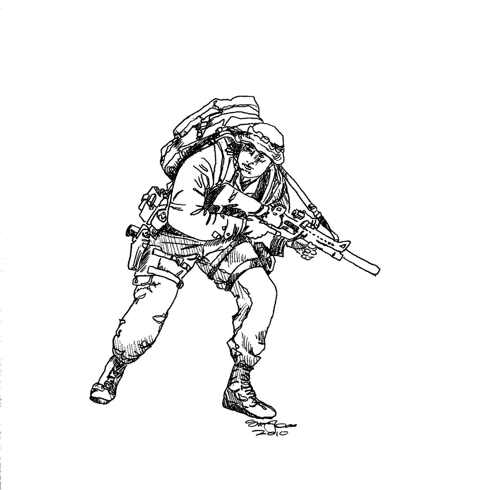 Suzanne I Am Drawing Army Guys