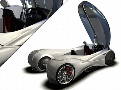 Nissan Sport Cars Abstraction Motivity 400C by Tryi Yeh Relies on Maglev