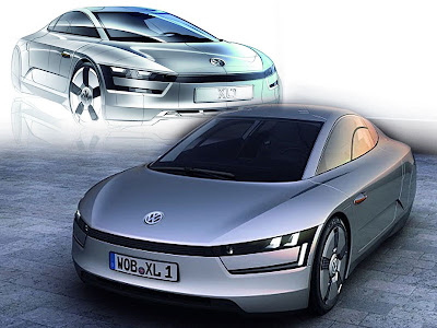 Volkswagen Sports Cars XL1 (SEV) 2011 Roadster Diesel-Electric Hybrid Concept
