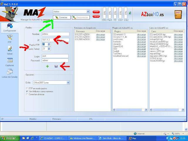 -024 Como configurar CS no Azbox Elite via Mbox.
