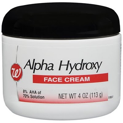 Cream alpha hydroxy facial