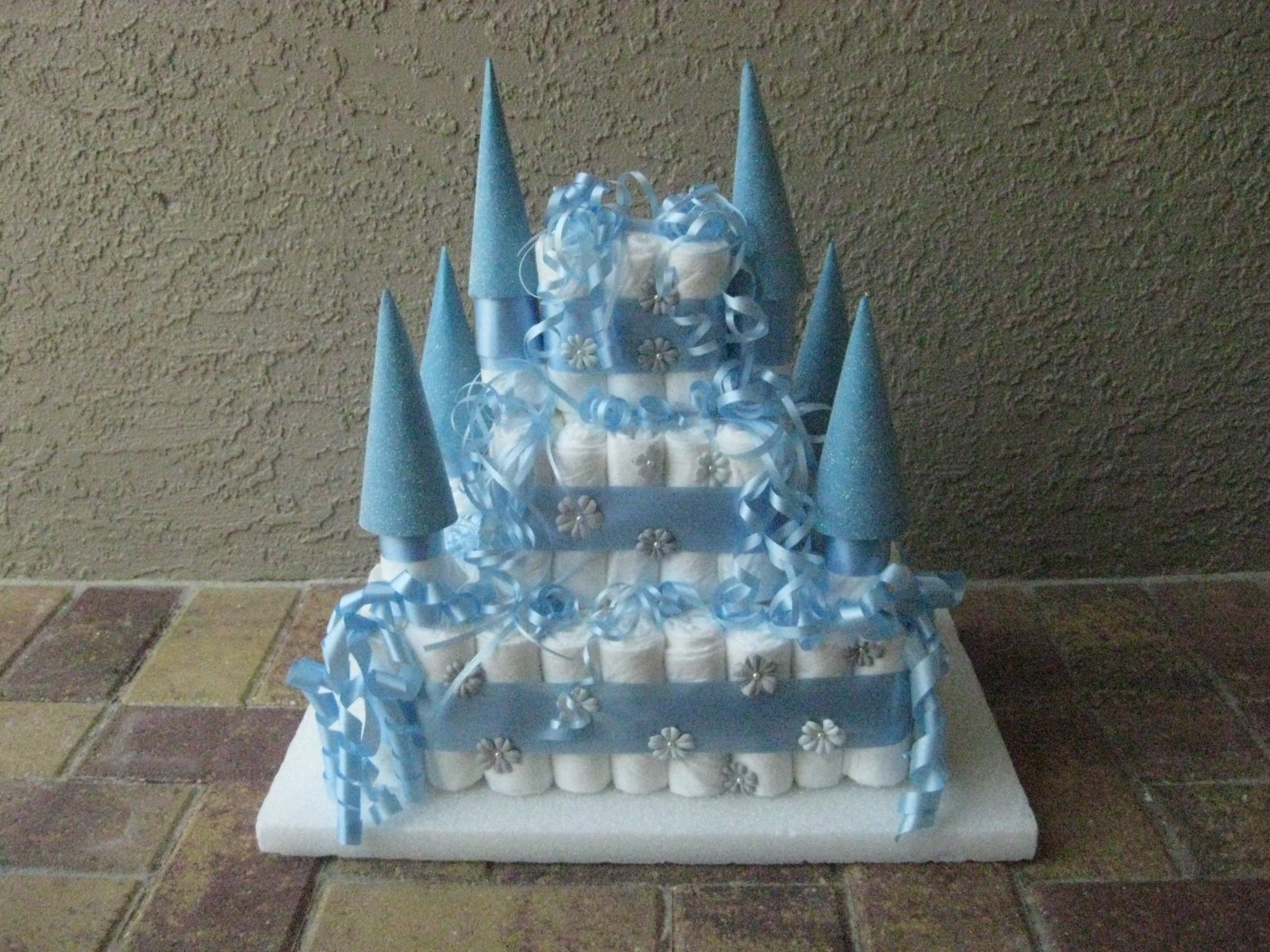 How To Make Castle Diaper Cake