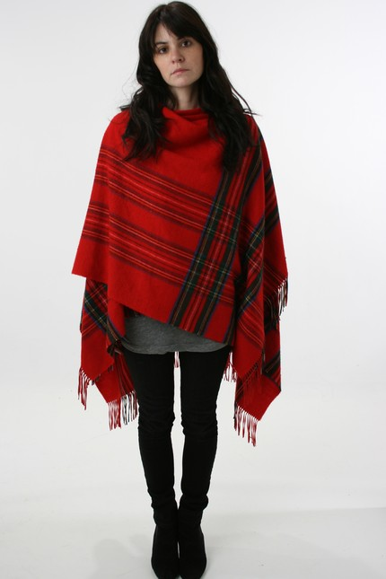 [red+plaid+poncho]