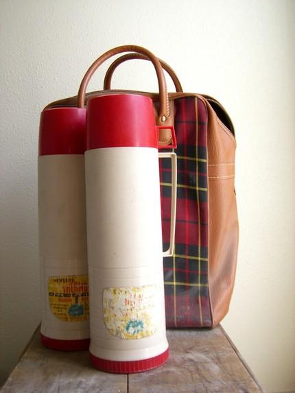 [tartan+bag+thermos]