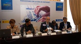 Presentación del libro 'Periodismo en la era de Internet', con Mª Pilar Diezhandino