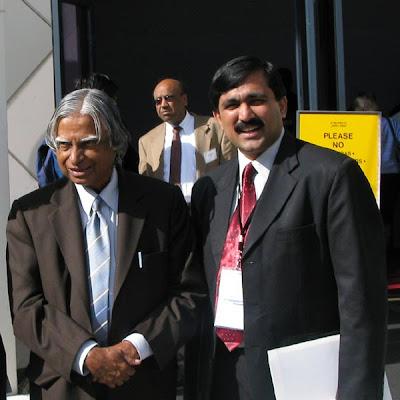 V Ponraj with Dr Abdul Kalam