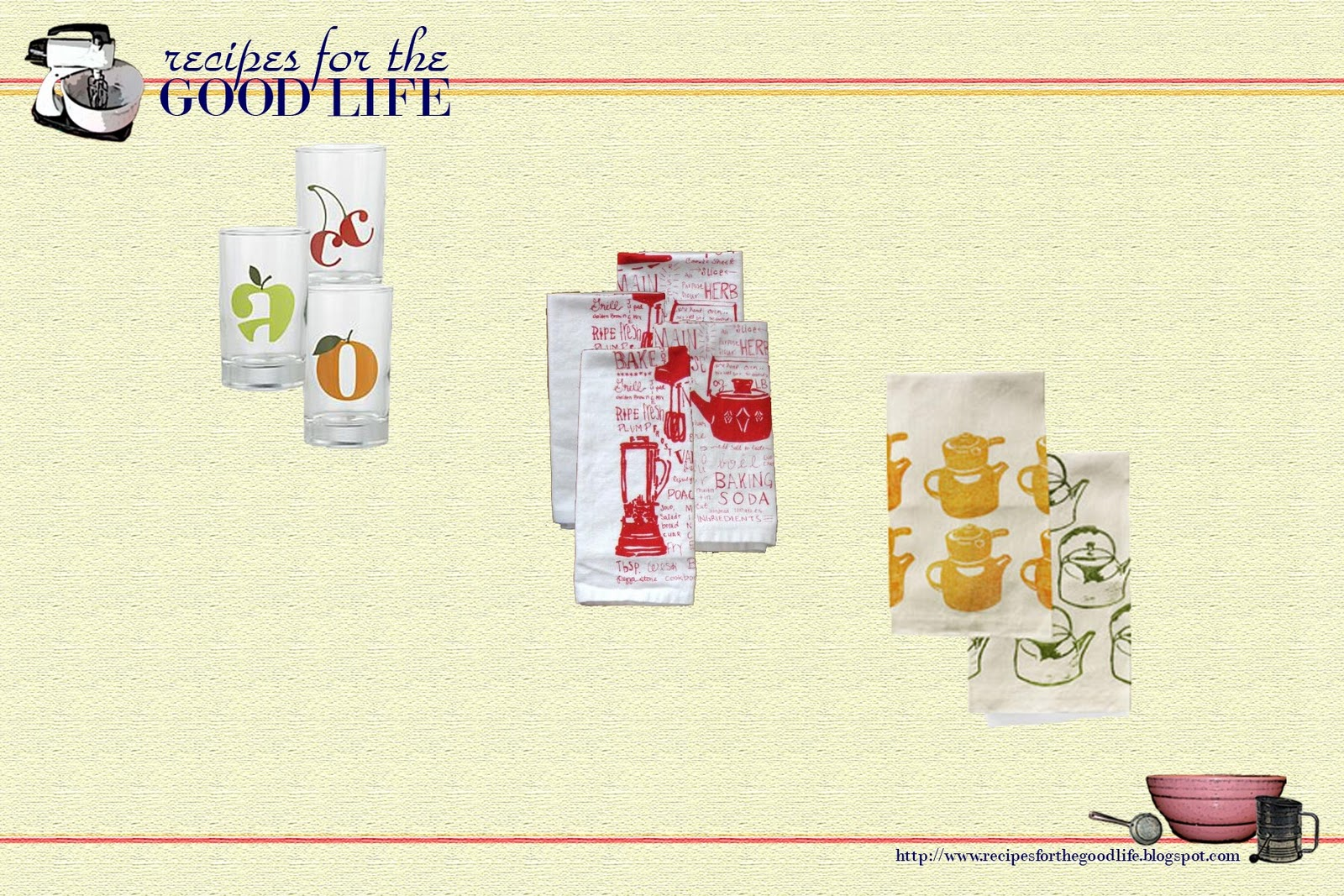 Recipes For The Good Life Weekly Wrap Type In The Kitchen