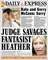 """Fresh agony for the McCanns"" 2008-03-19"