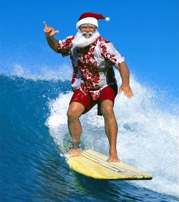 Stuff the reindeer, surfs up fellas!!