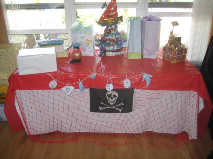decorations for pirate baby shower