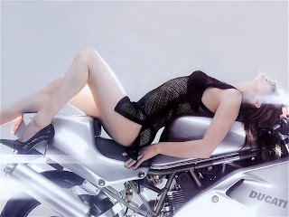 Super Bike Sexy Babe Wallpaper