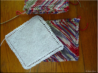 eyelet edged dishcloth