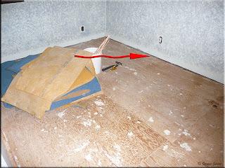 baseboard air leak