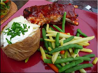 grilled rib dinner