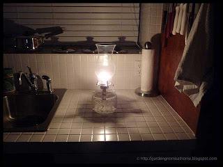crystal based oil lamp