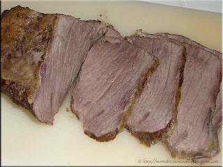 sliced rump roast