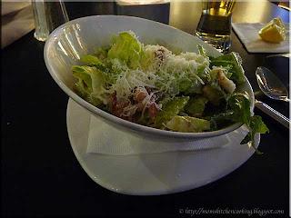 Caesar salad presentation