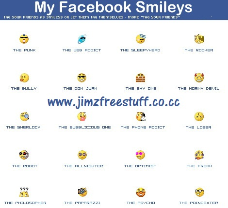 facebook smileys. on Facebook. Smiley faces