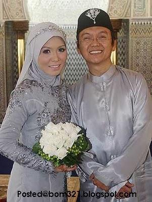 Gambar Perkahwinan Aziz M.Osman Dengan Puteri Lily.