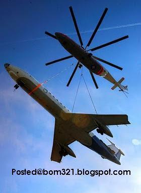 Kuat Helikopter Dari  Kapal Terbang !