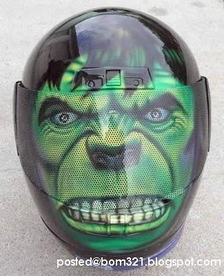 Helmet Motosikal Yang Gempak !